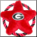 Georgia Bulldogs Rope Disk Toy