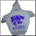 Kansas State Hooded Dog Tee- Gray