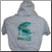 Michigan State Hooded Dog Tee- Gray