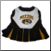 Missouri Tigers Cheerleader Dog Dress