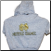 Notre Dame Hooded Dog Tee- Gray
