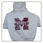Mississippi State Hooded Dog Tee- Gray