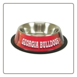 Georgia Bulldogs Dog Bowl-Stainless Steel