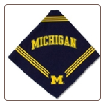 Michigan Wolverines Bandana - Blue