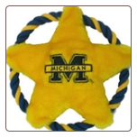 Michigan Wolverines Rope Disk Toy