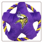 Minnesota Vikings Rope Disk Dog Toy