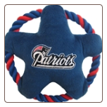 New England Patriots Rope Disk Dog Toy
