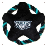Philadelphia Eagles Rope Disk Dog Toy
