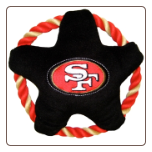 San Francisco 49ers Rope Disk Dog Toy