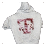Texas A&M Hooded Dog Tee- Gray