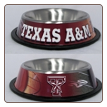 Texas A&M Dog Bowl-Stainless Steel