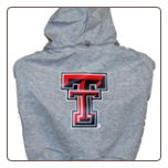 Texas Tech Hooded Dog Tee- Gray